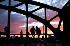 Donnersberger Brücke (joseph_donnelly) Tags: drinking sonnenuntergang abend people donnersberger brücke beidge train munich münchen evening colours sunset sun