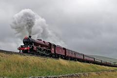 45699: Grey Skies (Gerald Nicholl) Tags: lms 45699 5699 galatea stanier jubilee settle carlisle york yorkshire express steam engine train loco locomotive waverley rtc railwaytouring helwithbridge