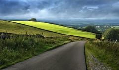 The road down to Chelmorton (PentlandPirate of the North) Tags: chelmorton derbyshire peakdistrict landscape silage newcutgrass leadinglines composition