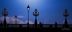 Blue mood... (hedes) Tags: light lumière bridge paris invalides pont lampadaires silhouettes alpha7riii 135mm sony