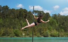 (dimitryroulland) Tags: nikon d750 85mm 18 dimitryroulland performer art artist blue lake france nature natural light pole dance poledance poledancer dancer green
