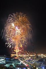 Colores de Ibiza... (elpitiuso) Tags: ibiza fire fiesta city night nightscape cartrails ciudad noche longexposure