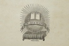 The Printed Word from 1891 - The Light of the World (Joseph Hollick) Tags: macromondays printedword bible book vintagebook vintagebible
