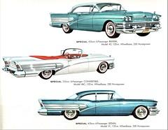 1958 Buick Specials (aldenjewell) Tags: 1958 buick special 4door riviera sedan 2door convertible 6passenger brochure