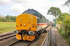 37419 at Buckenham with 2J83 1548 Lowestoft - Norwich 03/08/19. This is the only service to stop at the station on a Saturday and there is no weekday service. (chrisrowe37419) Tags: