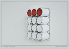 PAINT IT WHITE OR RED (Maarten Kleijkamp) Tags: museum voorlinden wassenaar thenetherlands wwwvoorlindennl simpel minimal minimaal simplistisch lessismore minimalistic red white cans paint paintcans art