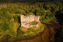 Dunvegan Castle, The Isle of Skye (iancowe) Tags: dunvegan castle dunvegancastle isle skye hebrides island clan macleod seat scotland scottish isleofskye islands highlands drone dji aerial phantom 4 pro loch sea