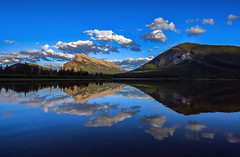 Vermillion clouds (Robert Grove 2) Tags: clouds banff reflections lake blue summer