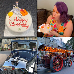 222 2019 birthday meal and Steam in the Square (Margaret Stranks) Tags: 222365 365days 2019 birthday cake candle 30 vauxhall reflection steaminthesquare fairford steamengine thebullhotel
