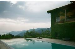 Euboea (domna.willgren) Tags: euboea evvoia greece summer mountains green pool view 35mm film kodak funsaver disposable camera