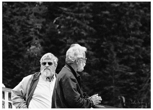 Andy And George Near Juneau - BW