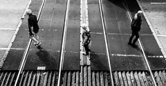 Playing with Shapes (EightBitTony) Tags: railwaytracks traintracks towncentre people derbyshire streetphotography longeaton three town female man urban canon7d2 railwaycrossing woman august male railway blackandwhite 2019 uk men bw blackwhite canon canon7dmarkii canon7dmark2 canon7dmk2 canon7dii canondslr canoneos canoneos7dmarkii canoneos7d2 canoneos7dii mono monochrome nottingham england unitedkingdom