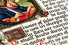 Illumination (Ian Charleton) Tags: macromondays printedword illumination manuscript bible scripture medieval ancient religion christianity page book text calligraphy