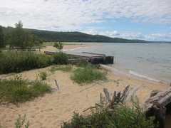 Boathouse rails (patred48) Tags: boathouse rails sand