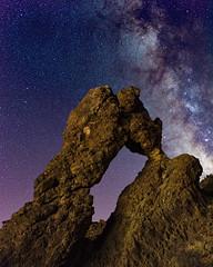 Zapatilla de la reina (freakyman) Tags: laorotava canarias españa milkyway víalactea nocturna night tenerife spain stars estrellas astrophoto nikon d810 35mm