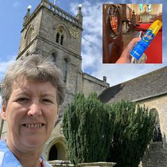 223 2019 church cleaning at Coln St Aldwyns (Margaret Stranks) Tags: 223365 365days 2019 colnstaldwyns chuech stjohnthebaptistchurch pledge duster henry vacuumcleaner altar hicksbeechcoatofarms pew