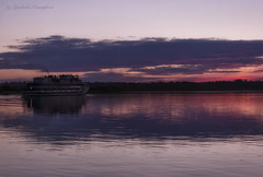 The course at sunset (Lyutik966) Tags: volga river water sunset light reflection uglich russia cruise ship journey landscape nature coth5 exquisitesunsets