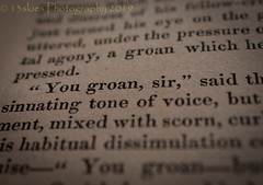 You Groan Sir (HMM) (13skies) Tags: hmm happymacromondays book theprintedword printedword old english oldbook macroscopic happymacromonday macro close page 1832 sony sonyalpha100 dof depthoffield