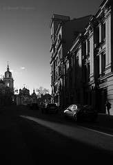 A street in Moscow (Lyutik966) Tags: street moscow city capital road building church architecture car khrustalnyypereulok bwartaward