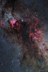 Northern Cygnus Region (astrofan80) Tags: astronomie canonef50f18stm cirrusnebel cygnus deepsky deneb gammacyg ic5070 milchstrase ngc6960 ngc6992 ngc6995 ngc7000 nordamerikanebel pelikannebel schwan sharpless119 sternhimmel veilnebula astrometrydotnet:id=nova3637280 astrometrydotnet:status=solved
