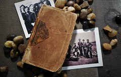 1800's pocket Bible (Twila1313) Tags: bible oldbible 1800s antiquebible pocketbible antique book oldbook soldier crimeanwar panasonicdmclx7