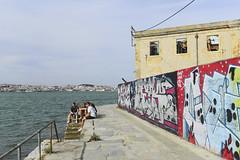 Wandering in Lisbon's south bank #portugal #cacilhas #lisbon #fujifilm_xseries #t3mujinpack (t3mujin) Tags: industrial places street graffitti theme almada location art river water city tagus cacilhas portugal tejo europe abandoned estremadura streetart t3mujinpack