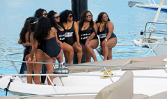 'Birthday Baddies' group portrait - Cabo San Lucas, Mexico (TravelsWithDan) Tags: women boat water city urban marina posing groupportrait birthdaybaddies tshirts cabosanlucas mexico southoftheborder canong9x bajacalifornia