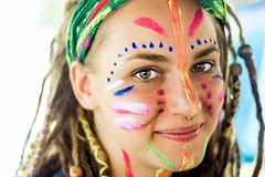All in the smile (robert84ak) Tags: portrait face facepaint paint makeup girl