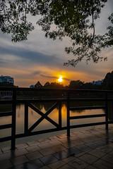 Sunset over Taman Bandaran Kelana Jaya, Petaling Jaya, Malaysia