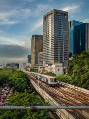 BTS Train Coming from New Ha Yaek Lat Phrao Station, Bangkok