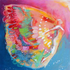 Rise to a New Level (Kerri Blackman) Tags: fairy angel abstractart colorful naivepainting wings