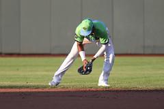 Mejia picking up a grounder (Minda Haas Kuhlmann) Tags: sports baseball milb outdoors nebraska omaha minorleaguebaseball papillion pacificcoastleague sarpycounty omahastormchasers cazadoresdetormentas erickmejia