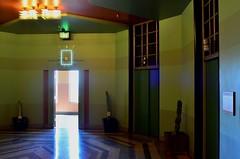 Arcane Anteroom (MPnormaleye) Tags: deco decorative clock design patterns elevator doorway cactus utata 24mm bullocks la california