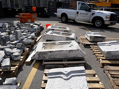 20190809_161128 Some of the bigger stones being removed (1) (shutterbroke) Tags: shutterbroke samsung galaxy j7 crown st anne spires removal waterbury ct