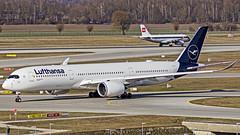 """Lufthansa Airbus A350-900 D-AIXK """"Karlsruhe"""" Munich (MUC/EDDM) (Aiel) Tags: munich airbus karlsruhe lufthansa a350 canon60d a350900 sigma60600 daixk"""