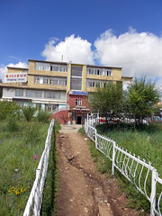 """Charming Relax"" (Cath Forrest) Tags: mongolia erdenet art city garden path building fences trees beautysalon"