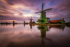 Zaanse Schans (modesrodriguez) Tags: city europe holanda holland netherlands photography travel windmill molinos sunset sky longexposure reflection mirror landscape paisaje