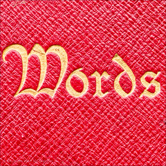 Words (*ian*) Tags: book bookcover closeup cover gold leather macro page red square texture williamwordsworth word wordsworth macromondays printedword