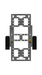 Trailer Chassis with Independent Suspension (RS 1990) Tags: lego technic studio moc oc trailer chassis independentsuspension 3d rendering povray