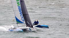 Catamaran (Bernie Condon) Tags: catamaran sail sailing wind water boat ship vessel yacht yachting sea solent southamptonwater sport racing southampton cowes