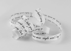 Its only Words (alderson.yvonne) Tags: printedword macromonday words word song shredded paper curls yvonnealderson