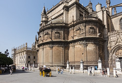 View of Seville Cathedral (oz_lightning) Tags: animals europe seville sonyrx100iii spain architecture building cart church cityscape horse street tourist urban andalusia