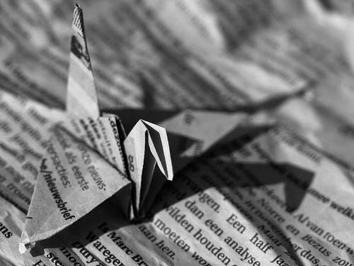 Swan :) Macro Mondays - Printed word