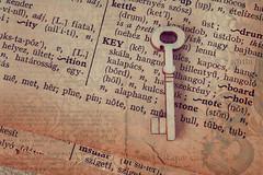 Key (Anikó Lázár) Tags: printedword macromondays key wooden dictionary paper