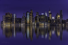 Early morning (Carol Montgomery8345) Tags: outside water city newyork sunrise travel sky skyline cityscape reflection pentaxlife pentax art pentaxart color night downtown brooklyn