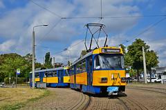 Tatra T4D-M #2126 LVB Leipzig Lipsk (3x105Na) Tags: tatra t4dm 2126 lvb leipzig lipsk strassenbahn strasenbahn tram tramwaj deutschland germany niemcy sachsen saksonia przejazdspecjalny przejazd sonderfahrt