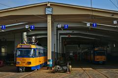 Tatra T4D-M #2116 #2170 LVB Leipzig Lipsk (3x105Na) Tags: tatra t4dm 2116 2170 lvb leipzig lipsk strassenbahn strasenbahn tram tramwaj deutschland germany niemcy sachsen saksonia zajezdnia betriebshof betriebshofpaunsdorf