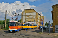 Tatra T4D-M #5001 LVB Leipzig Lipsk (3x105Na) Tags: tatra t4dm 5001 lvb leipzig lipsk strassenbahn strasenbahn tram tramwaj deutschland germany niemcy sachsen saksonia przejazdspecjalny przejazd sonderfahrt fahrschule naukajazdy