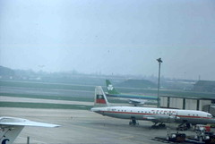 LZ-BEP Ilyushin Il-18 - Balkan Airways, and Boeing 737 - Aer Lingus (Ray's Photo Collection) Tags: heathrow lzbep il18 london lhr airport flughafen ilyushin prop airliner boeing balkanairways aerlingus bulgaria 1977 737