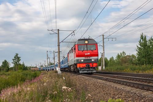 ТЭП70БС-180, Санкт-Петербург - Гомель/Рига/Солигорск, Антропшино - Кобралово ©  neu_zwei